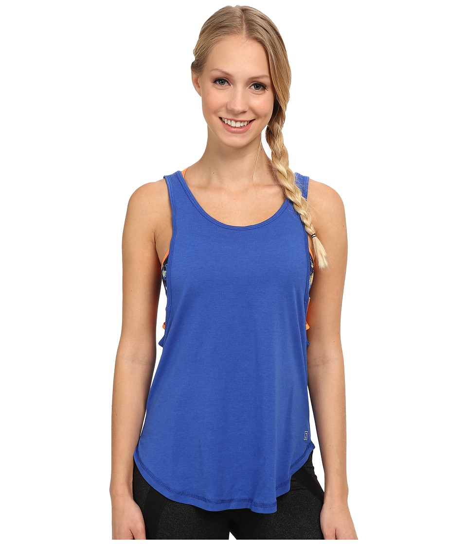 Zobha - Aubrey Relaxed Fit Studio Singlet (Muscari Blue) Women's Workout
