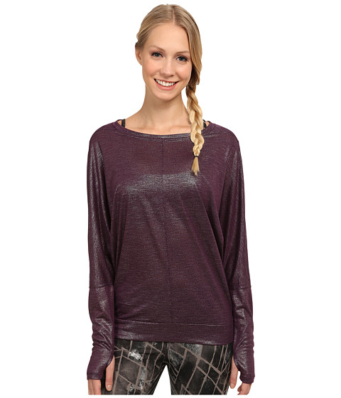 Zobha - Parker Long Sleeve Layering Top (Blackberry Wine) Women's Workout