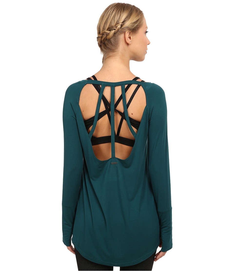 Zobha - Harley Open Back Tunic (Deep Teal) Women's Workout