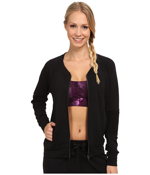 Zobha - Conner French Terry Bomber Jacket (Black) Women