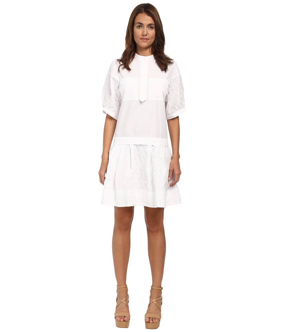 See by Chloe - Poplin Tunic Dress (White) Women's Dress