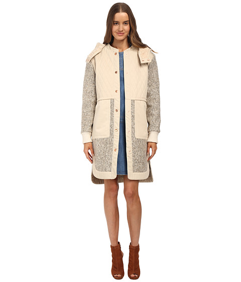 See by Chloe - Tweed Anorak Coat (Mastic) Women's Coat