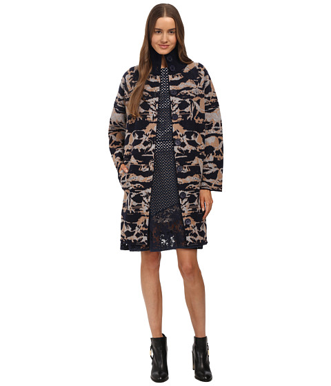 See by Chloe - Jacquard Coat Cardigan (Jacquard Horses) Women's Sweater