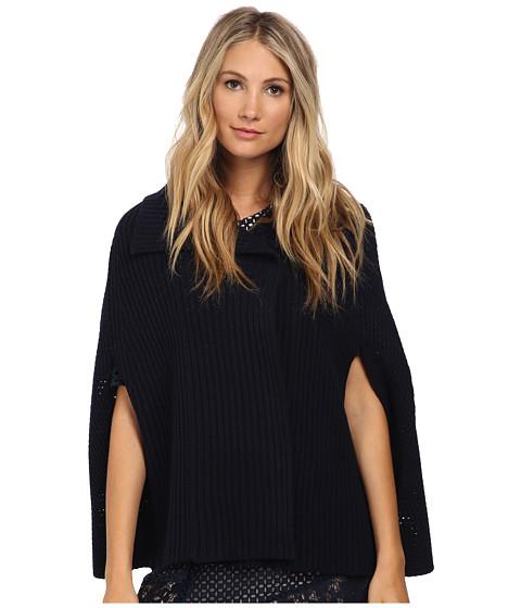 See by Chloe - Wool Sweater Jacket (Dark Navy) Women