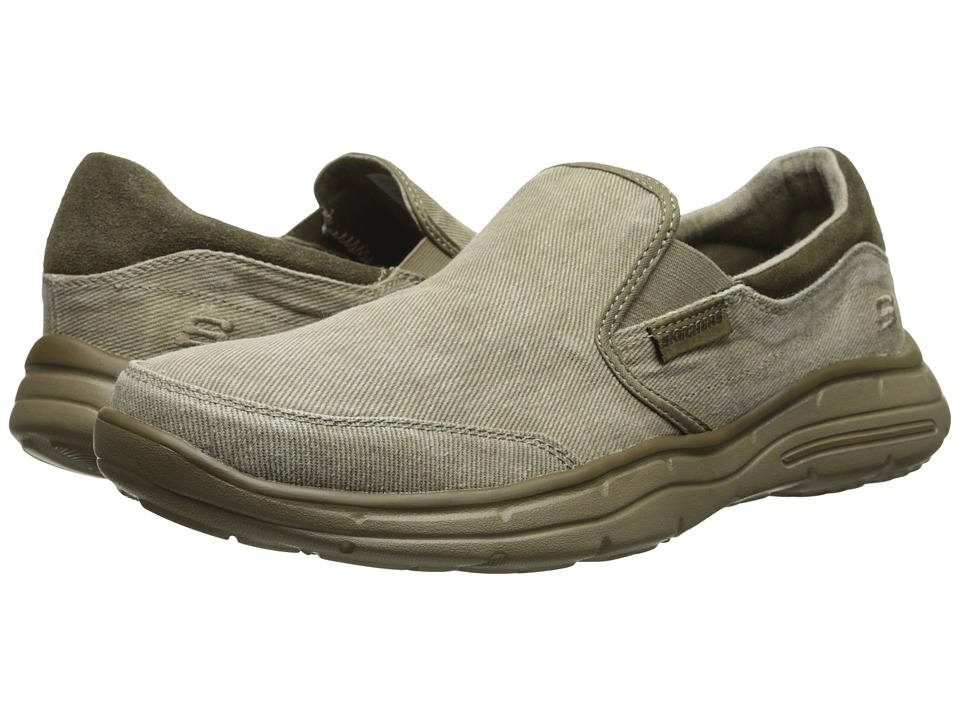 SKECHERS Relaxed Fit(r): Glides Adamant (Taupe) Men