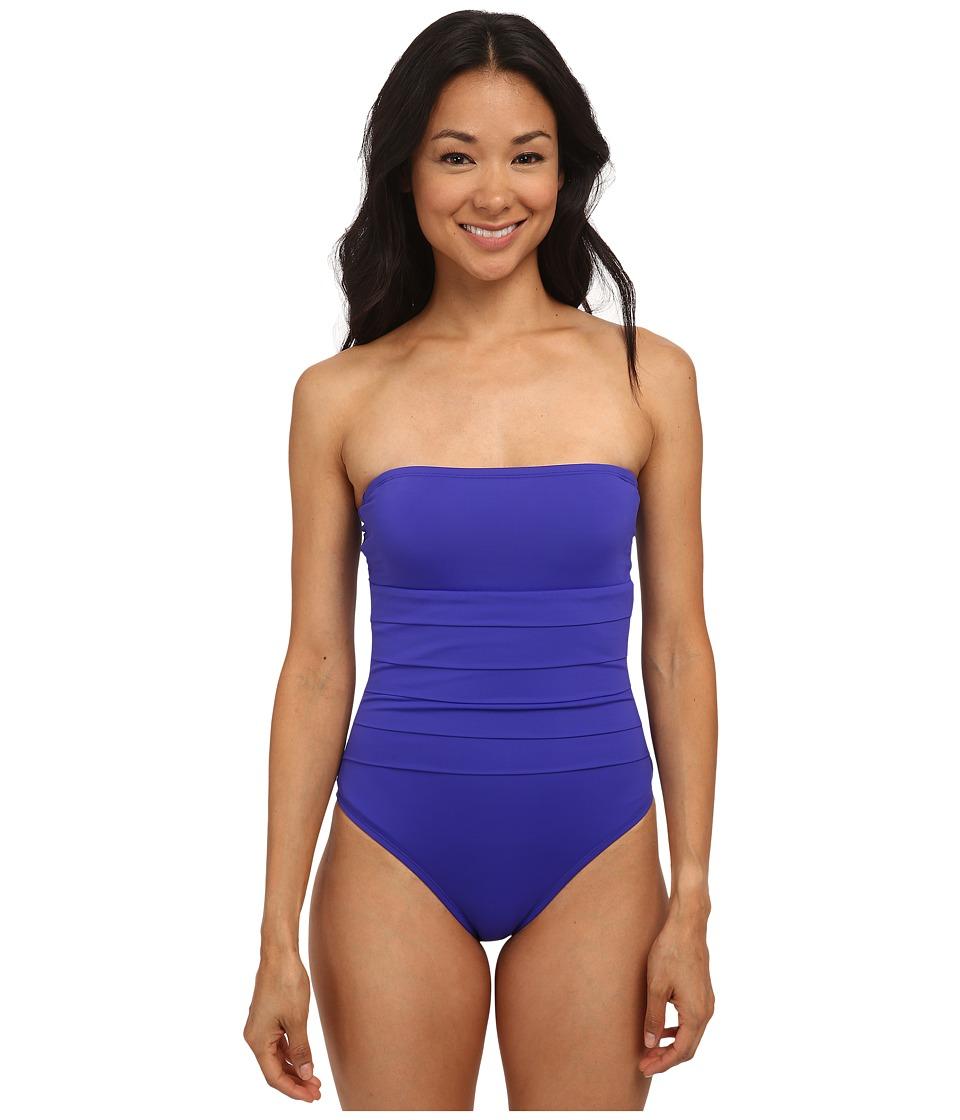 Bleu Rod Beattie - Over The Edge Bandeau Mio w/ Removable Soft Cups (Twilight Bleu) Women's Swimsuits One Piece