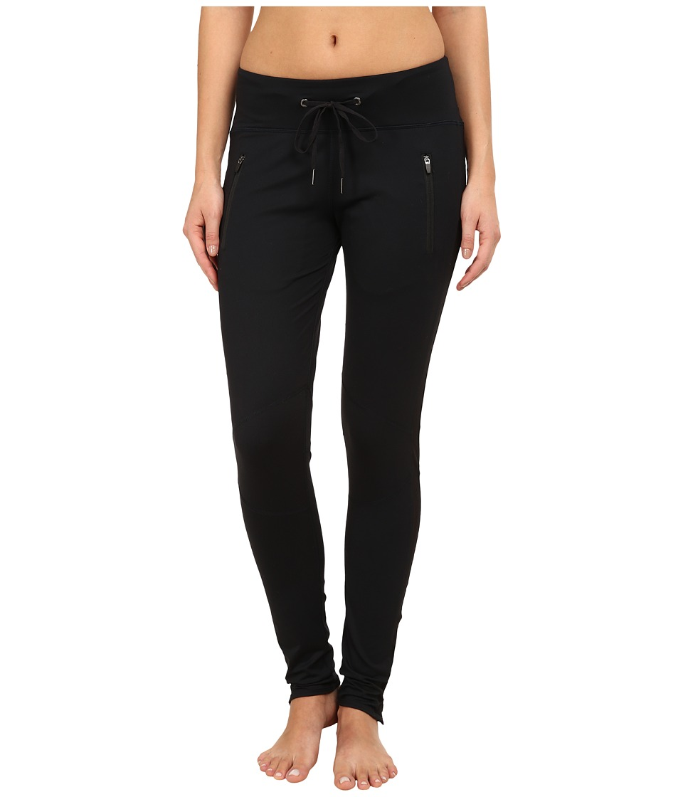 Zobha - Zippered Pocket Leggings (Black) Women's Workout