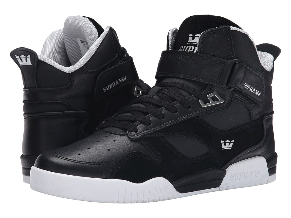 Supra - Bleeker (Black/White/White) Men's Skate Shoes