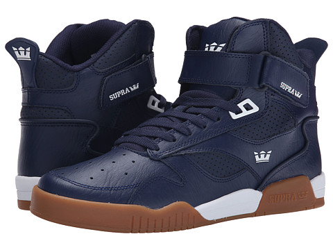 Supra - Bleeker (Blue Nights/White/Light Gum) Men's Skate Shoes