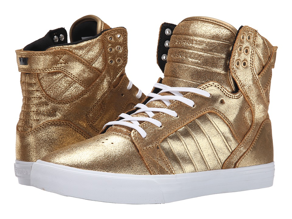 Supra - Skytop (Gold/Black/White) Men's Skate Shoes