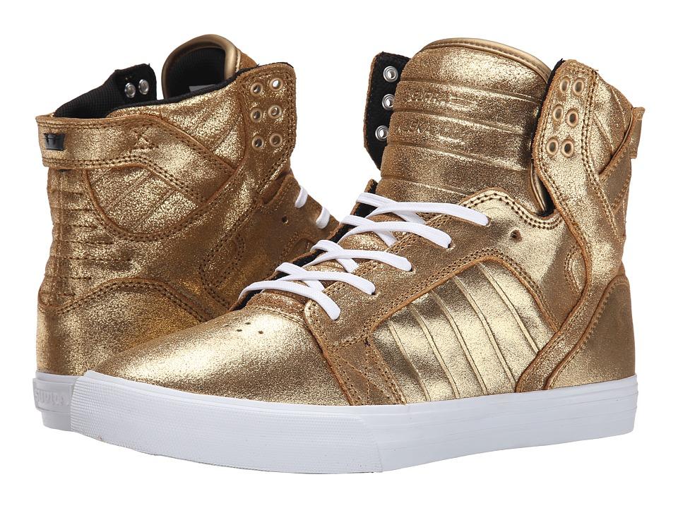 Supra - Skytop (Gold/Black/White) Men's Skate Shoes