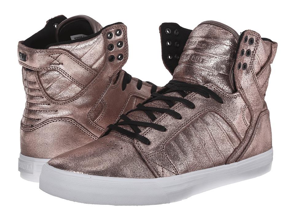 Supra - Skytop (Rose Gold Metallic/White) Men's Skate Shoes
