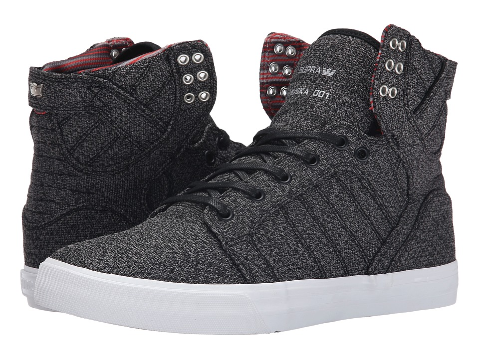 Supra - Skytop (Microchip Heather/White) Men's Skate Shoes