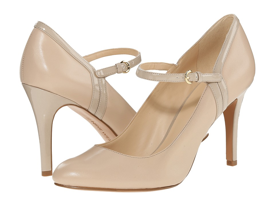 Nine West Garrie Off White-Off White Leather 1 High Heels