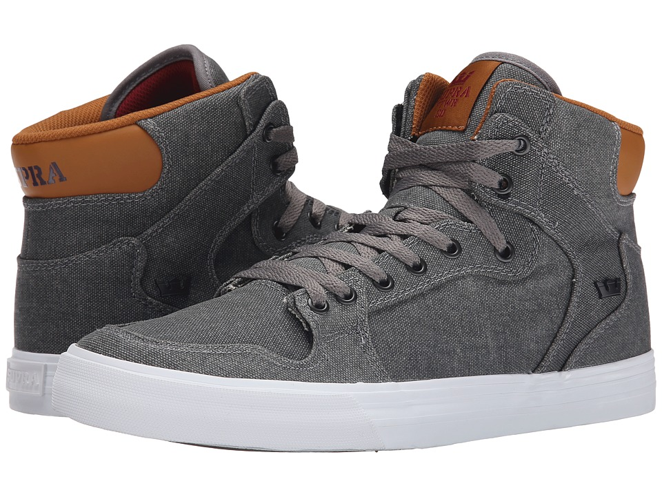Supra - Vaider (Grey/Cathay Spice/White) Skate Shoes