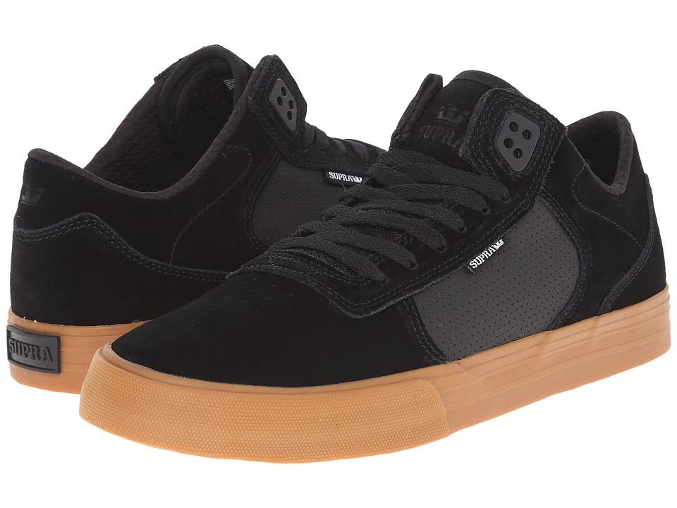 Supra - Ellington Vulc (Black/Gum) Men's Skate Shoes