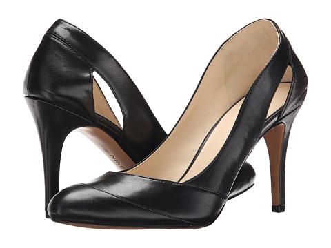 Nine West - Grounded (Black Leather) High Heels