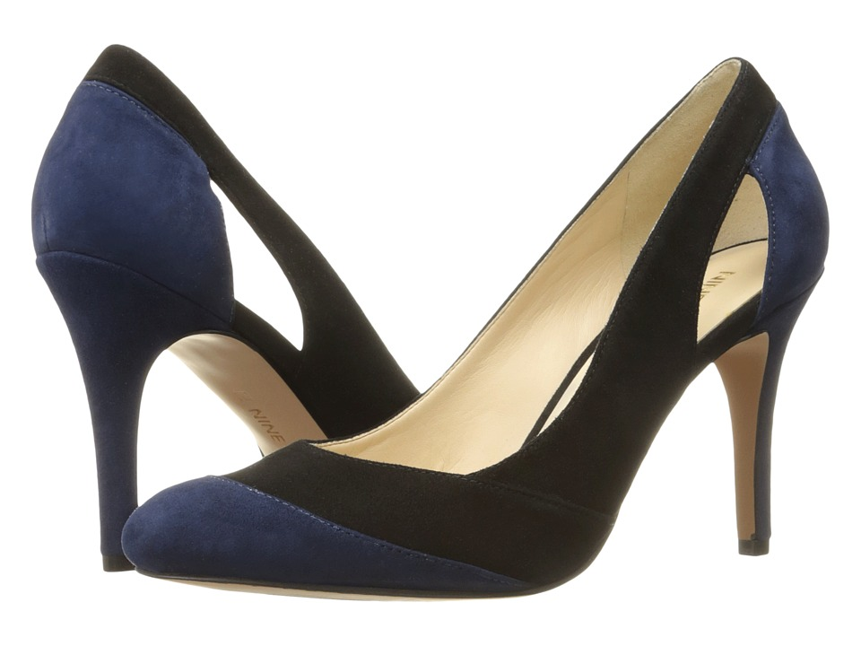 Nine West - Grounded (Black/Navy Suede 1) High Heels