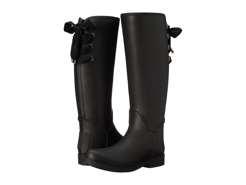 COACH - Tristee (Black/Black Solid Matte) Women's Pull-on Boots