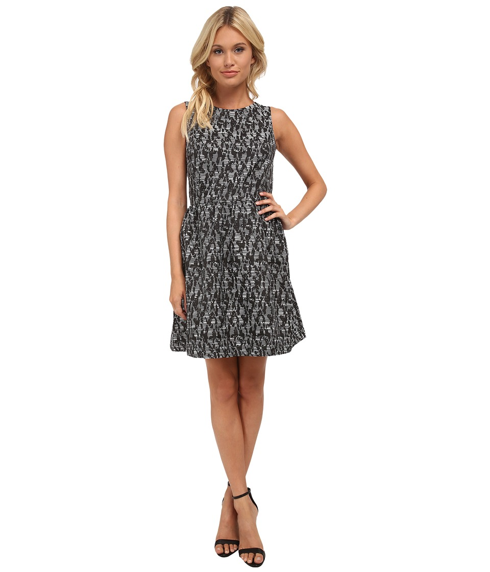 kensie Abstract Brocade Dress KS8K7637 (Black Combo) Women