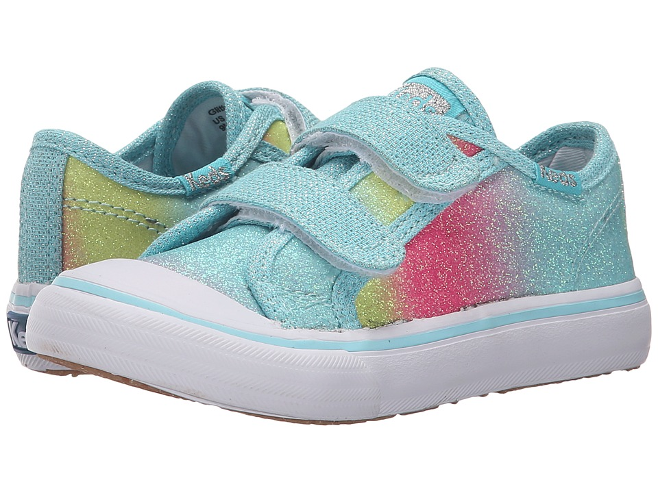 Keds Kids - Glittery HL (Toddler/Little Kid) (Turquoise Fade Sugar Dip) Girls Shoes