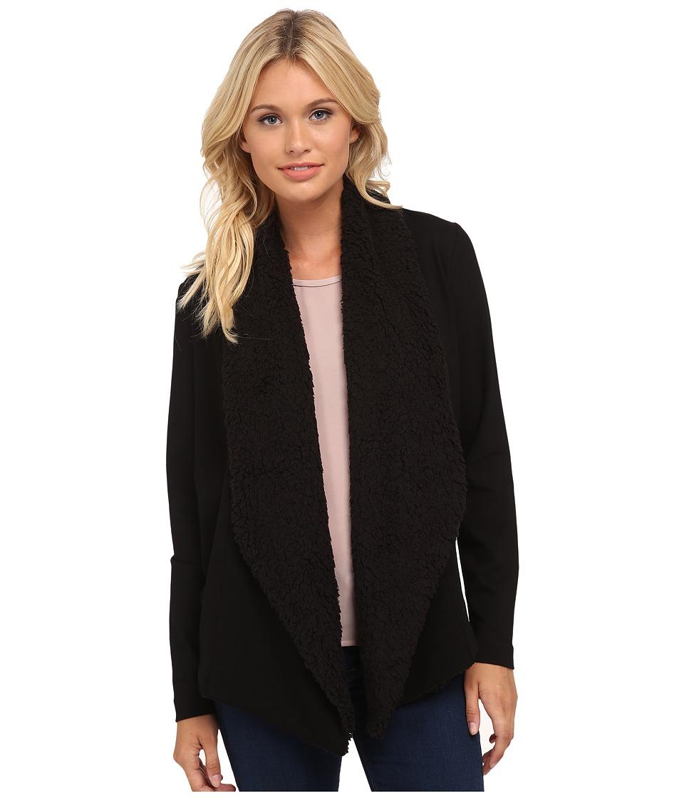 kensie - Ponte Jacket KS8K2217 (Black) Women's Coat