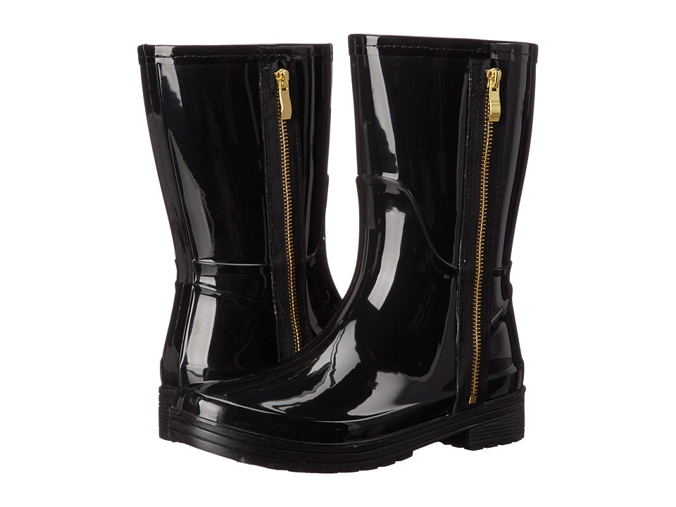 Kenneth Cole Unlisted - Rain Zip (Black PVC) Women's Rain Boots