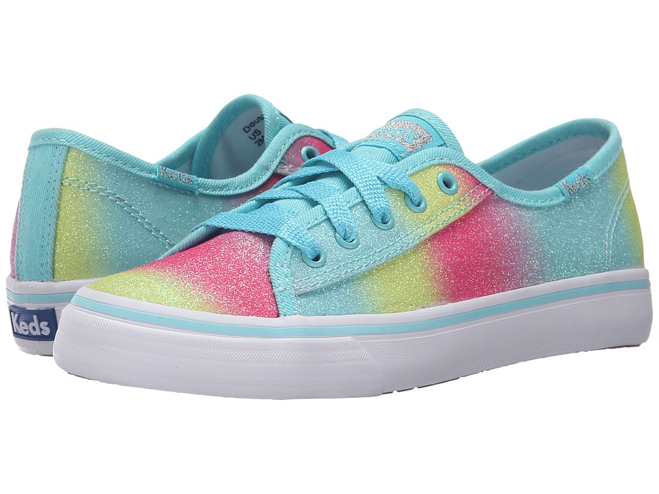 Keds Kids - Double Up (Little Kid/Big Kid) (Turquoise Fade Sugar Dip) Girl's Shoes