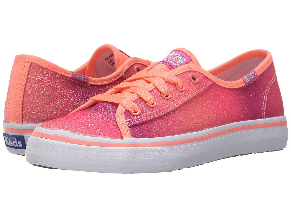 Keds Kids - Double Up (Little Kid/Big Kid) (Coral Fade Sugar Dip) Girl's Shoes