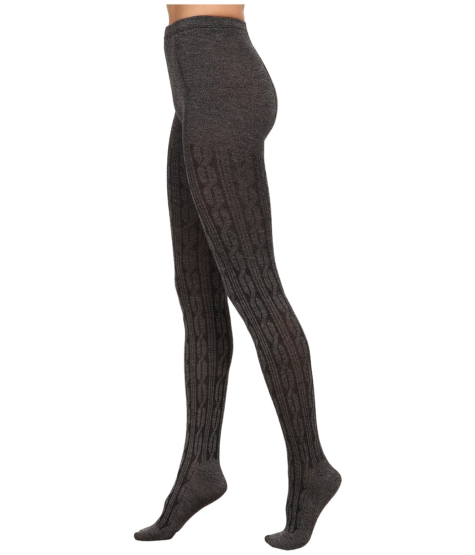 HUE - Bold Cable Sweater Tights (Filament) Hose