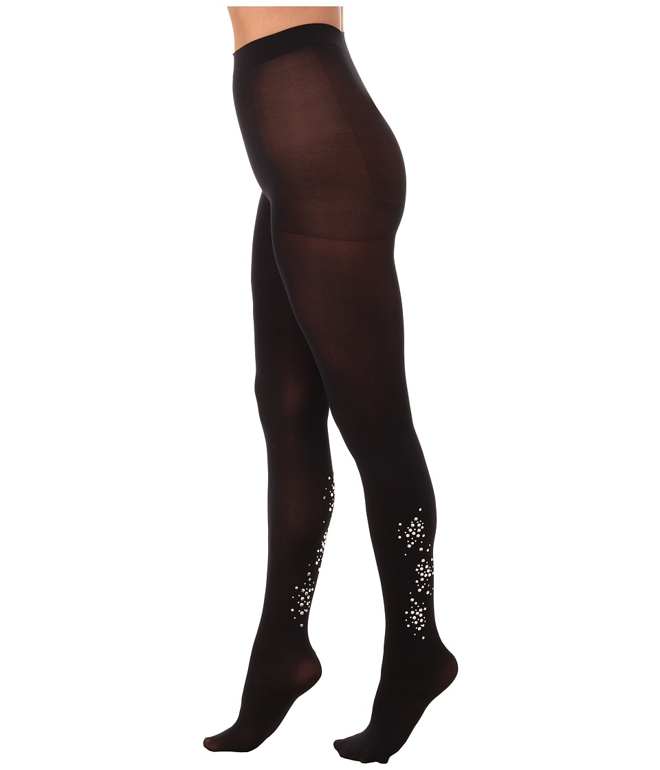 HUE - Bejeweled Tights (Non Control) (Black) Hose