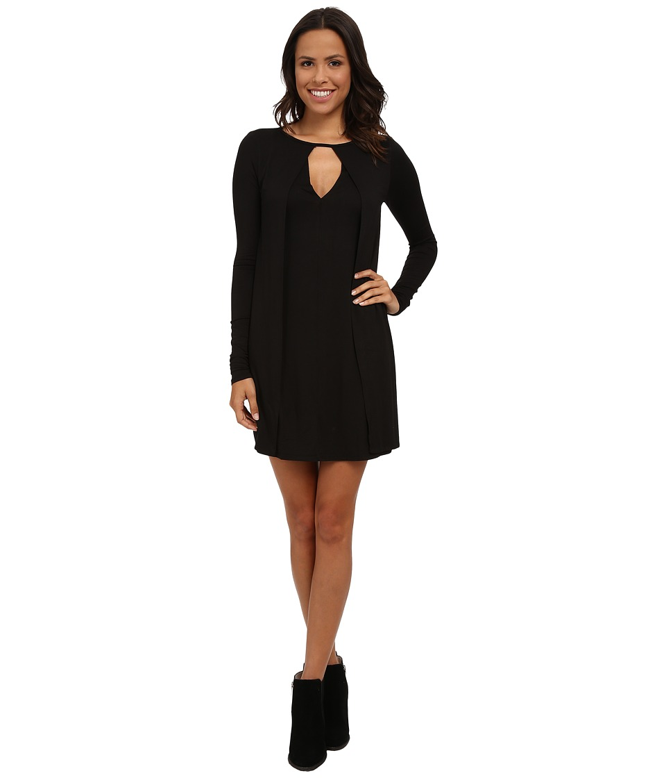 LAmade - Faux Cape Dress (Black) Women's Dress