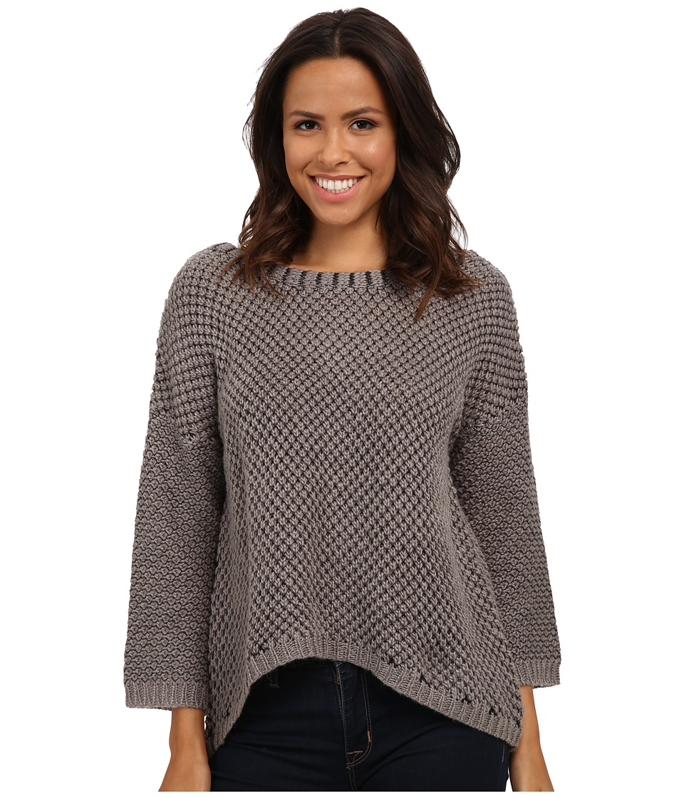 LAmade - Acorn Stitch Sweater (Heather Grey/Black) Women's Sweater