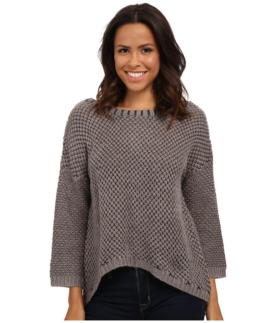 LAmade - Acorn Stitch Sweater (Heather Grey/Black) Women's Sweater