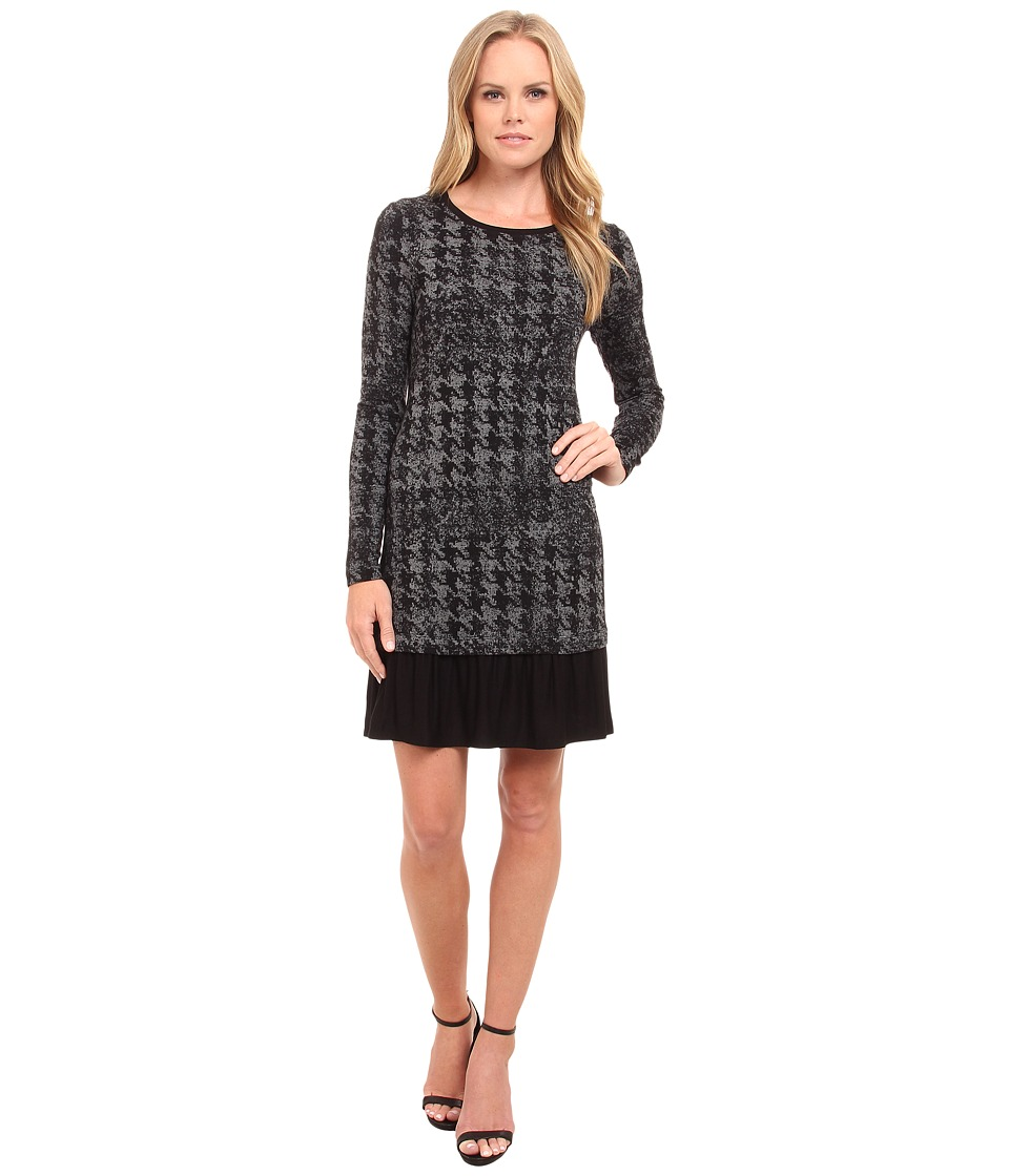 kensie Gridwork Dress KS9K7713 (Heather Ash Combo) Women