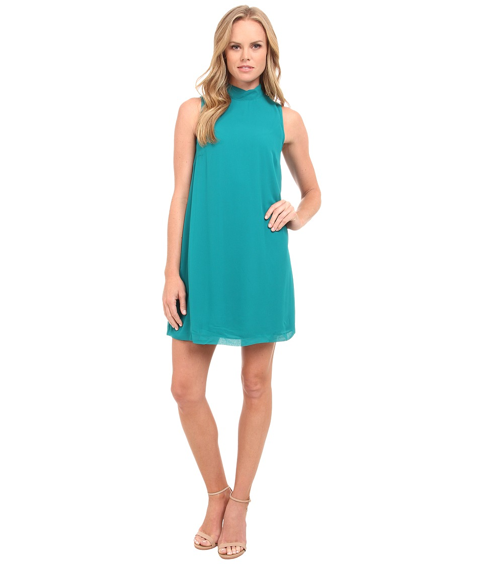 kensie - Crepe Chiffon Dress KS9K7661 (Deep Teal) Women's Dress