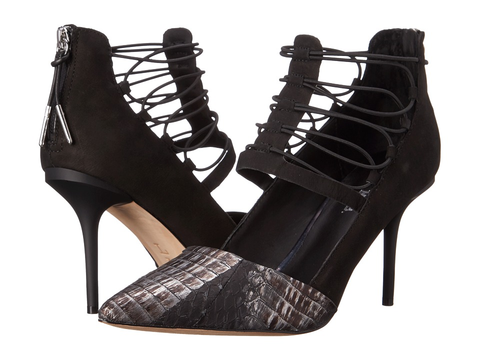 L.A.M.B. May (Black/Gunmetal) High Heels