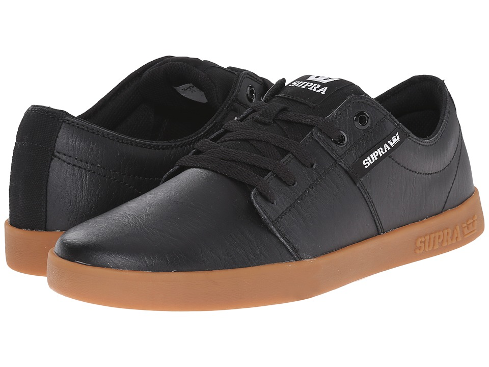 Supra - Stacks II (Black/Gum 2) Men's Skate Shoes