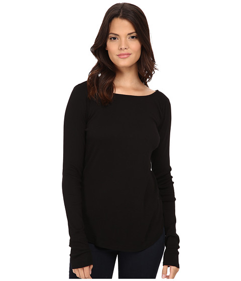 LAmade - Boat Neck Fitted Top (Black) Women's T Shirt