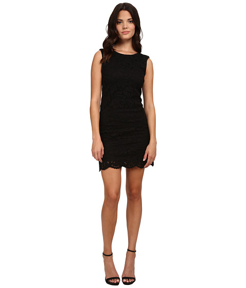 LAmade - Lace Scoop Dress (Black) Women's Dress