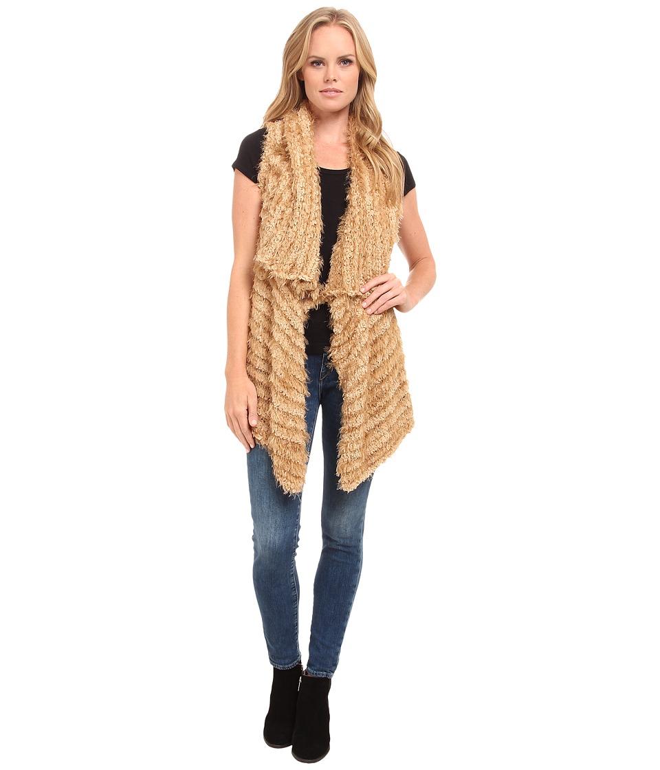 kensie - Furry Stripe Vest KS9K5788 (Latte) Women's Vest