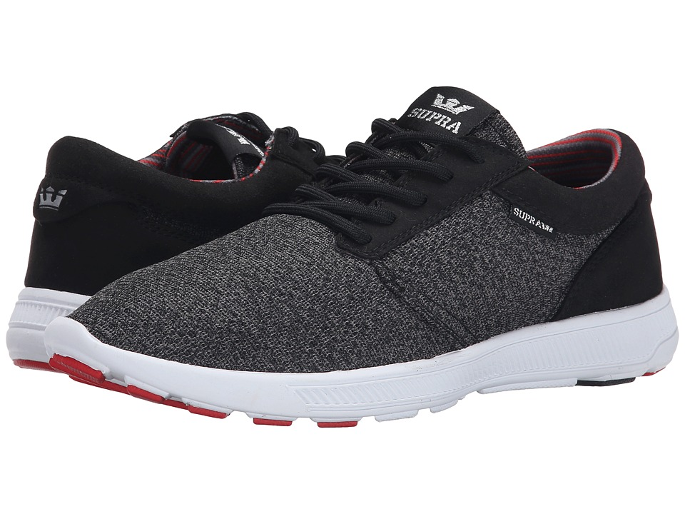Supra - Hammer Run (Charcoal Heather/Red/Black/White) Men's Skate Shoes