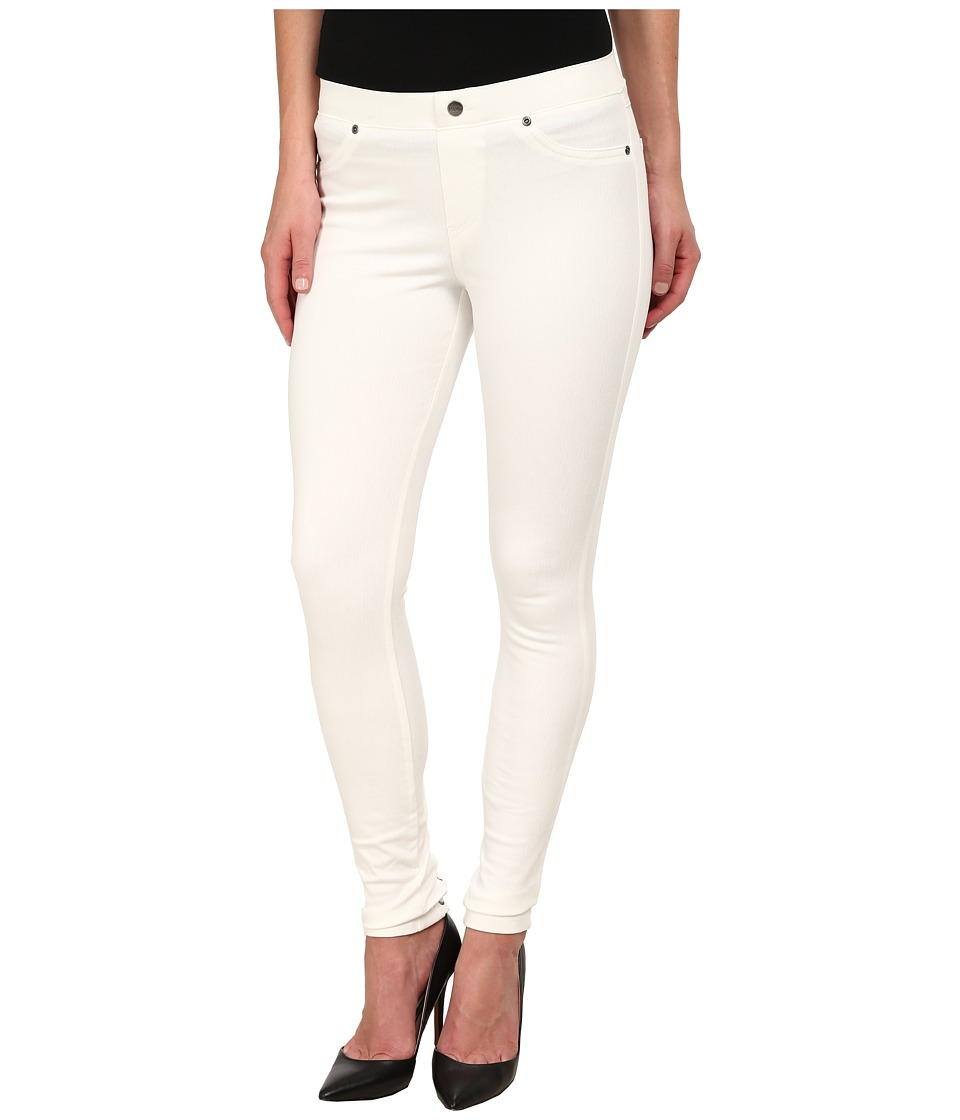 HUE - Lace-Up Super Smooth Denim Leggings (Star White) Women's Jeans