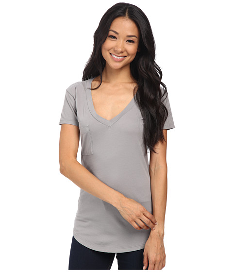 LAmade - V-Pocket Tee - Tissue Jersey (London Fog) Women's Short Sleeve Pullover