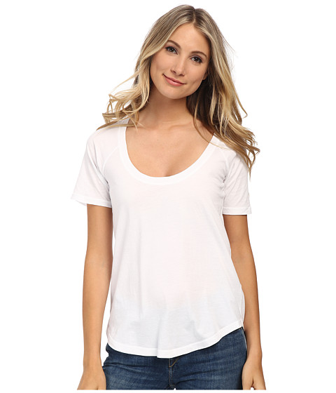 LAmade - Circle Raglan Tee (White) Women's T Shirt