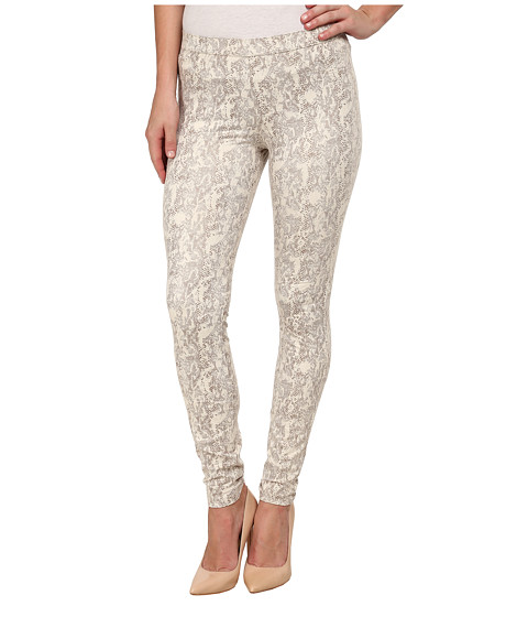 HUE - Tonal Python Leatherette Leggings (Almost White) Women's Casual Pants