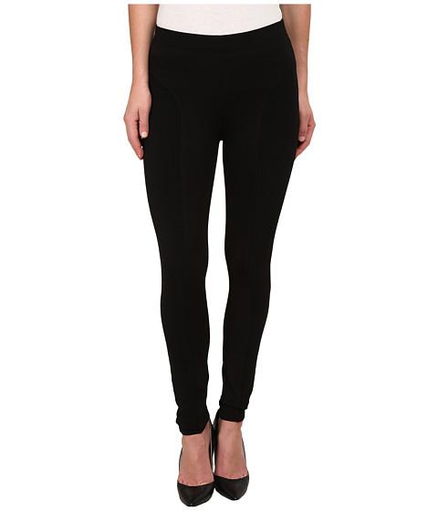 HUE - Ottoman Paneled Ponte Leggings (Black) Women's Casual Pants