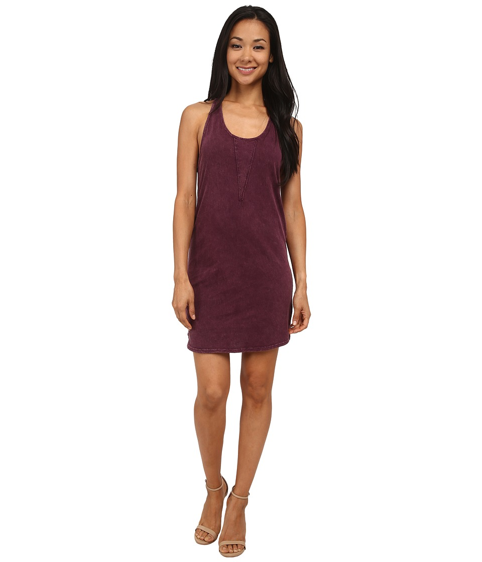 LAmade - Mineral Wash Tank Dress (Dark Purple) Women