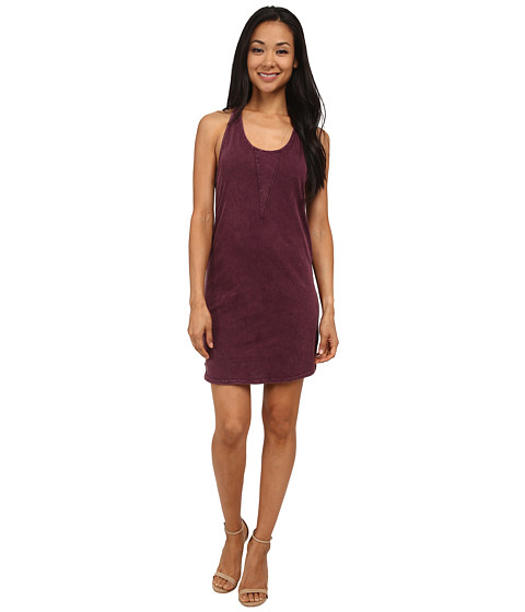LAmade - Mineral Wash Tank Dress (Dark Purple) Women's Dress