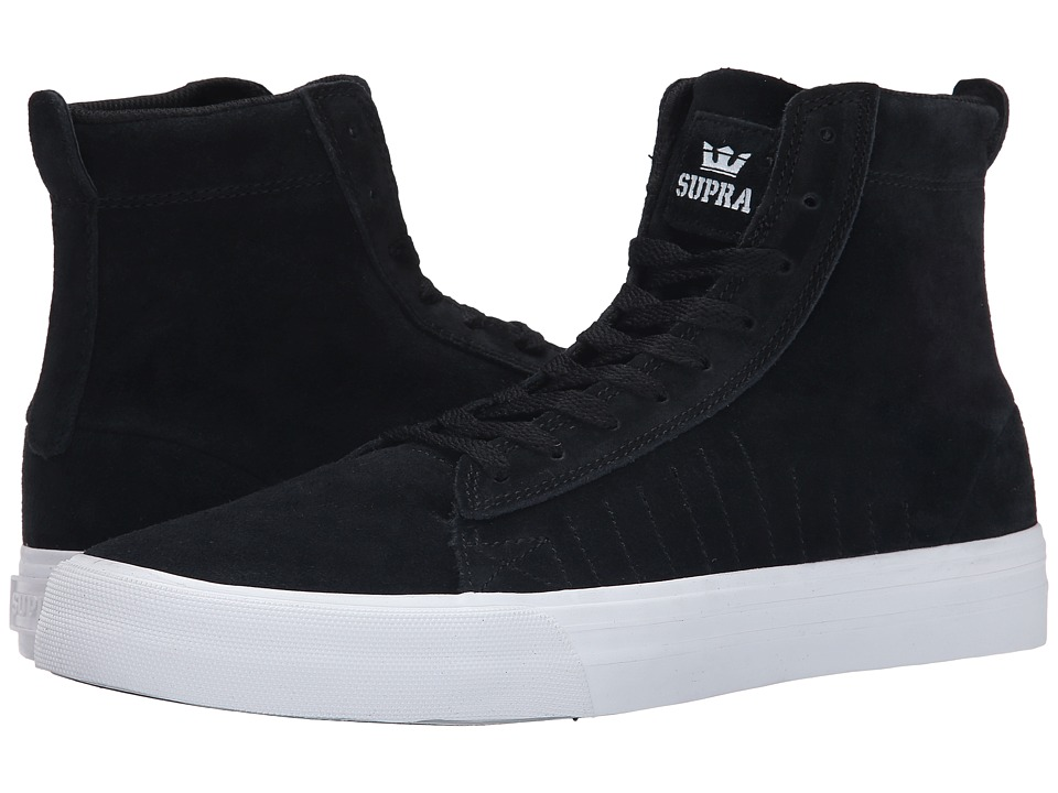 Supra - Belmont High (Black/White/White) Men's Skate Shoes